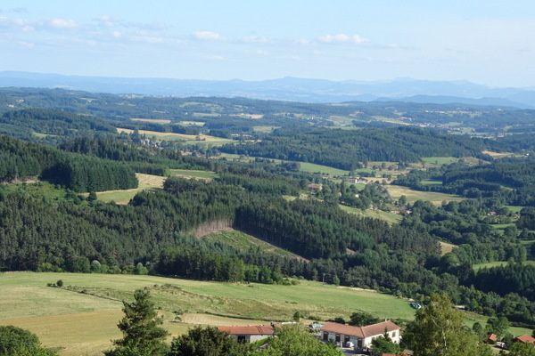 Point de vue à Montarcher.
