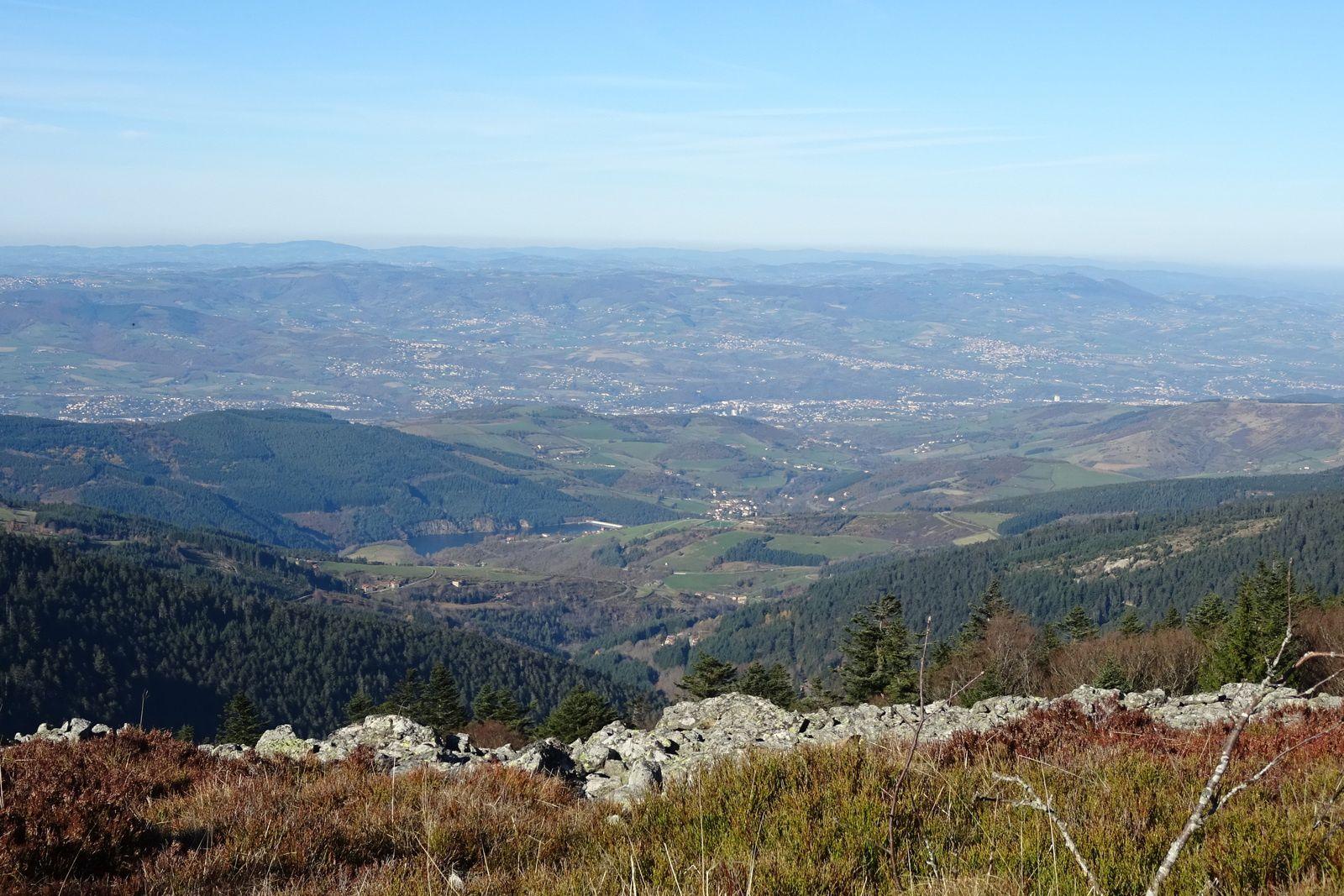 Vue sur la vallée du Gier.