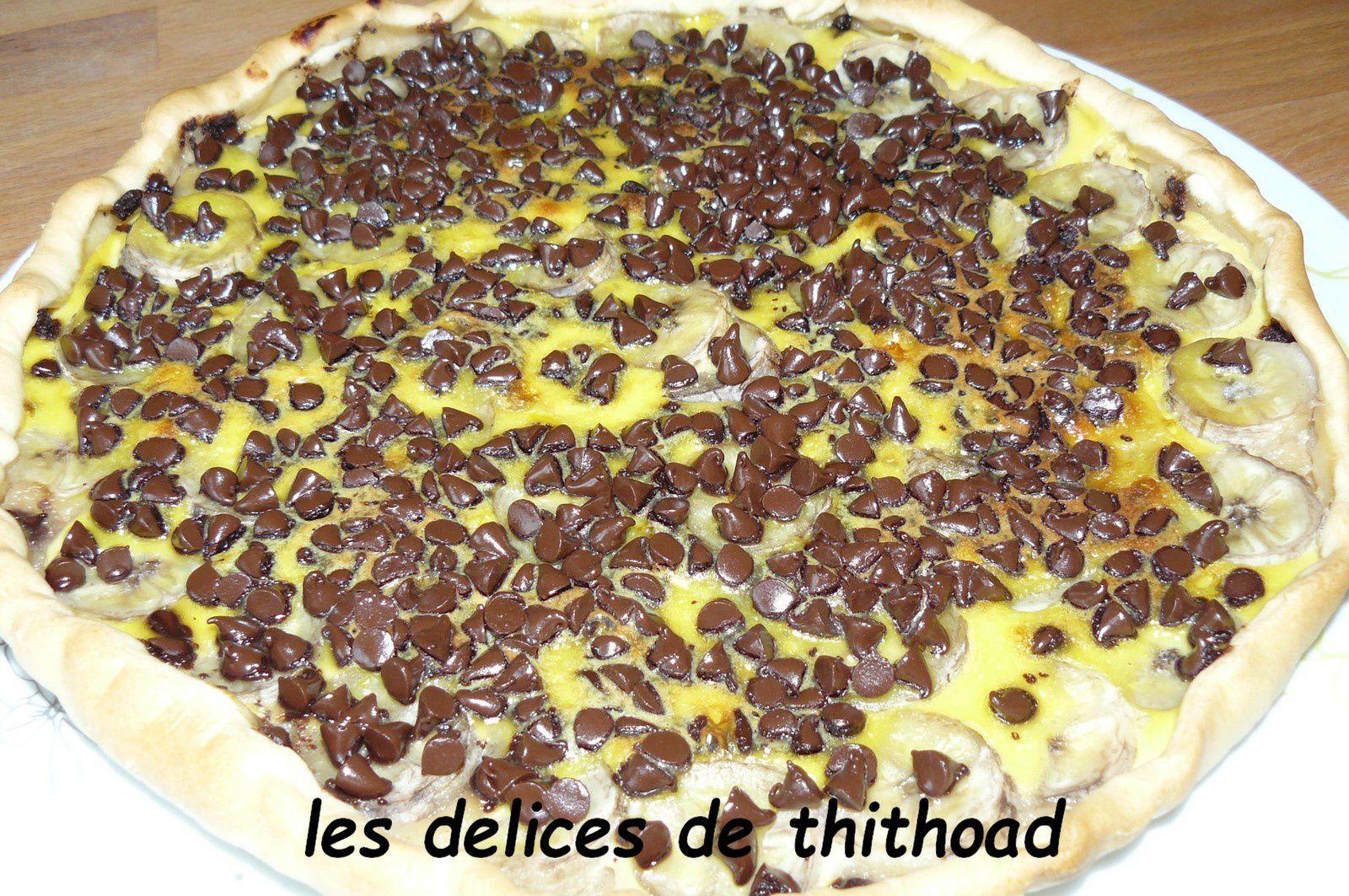 tarte fondante aux bananes et pépites de chocolat (escapade en cuisine)