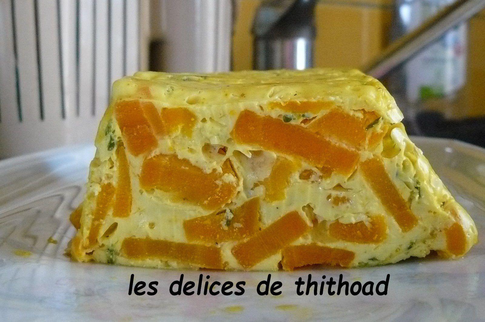 terrine de carottes à la crème de cumin