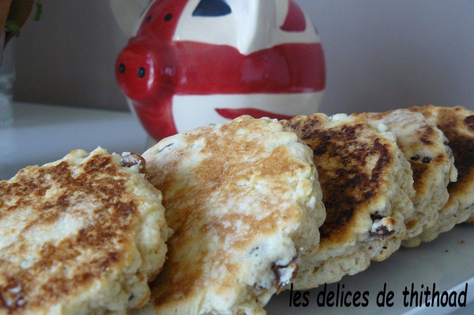 welsh cakes aux fruits secs , défi culinaire #16 sur le thème dessert anglais