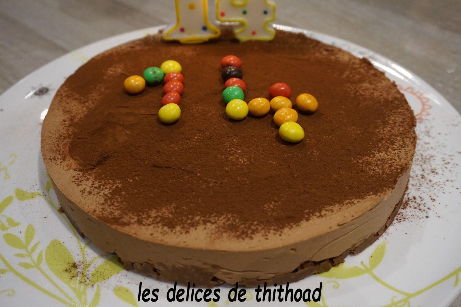 gâteau croquant au chocolat