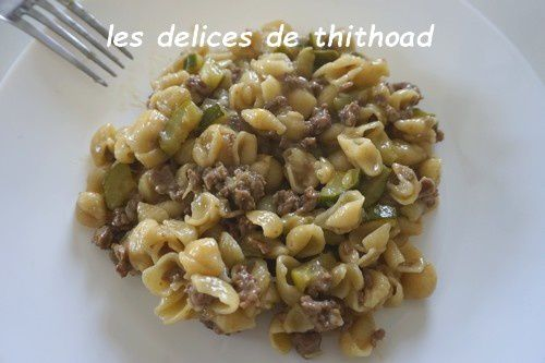 one pot pasta boeuf et courgettes au i'cook-in ou pas
