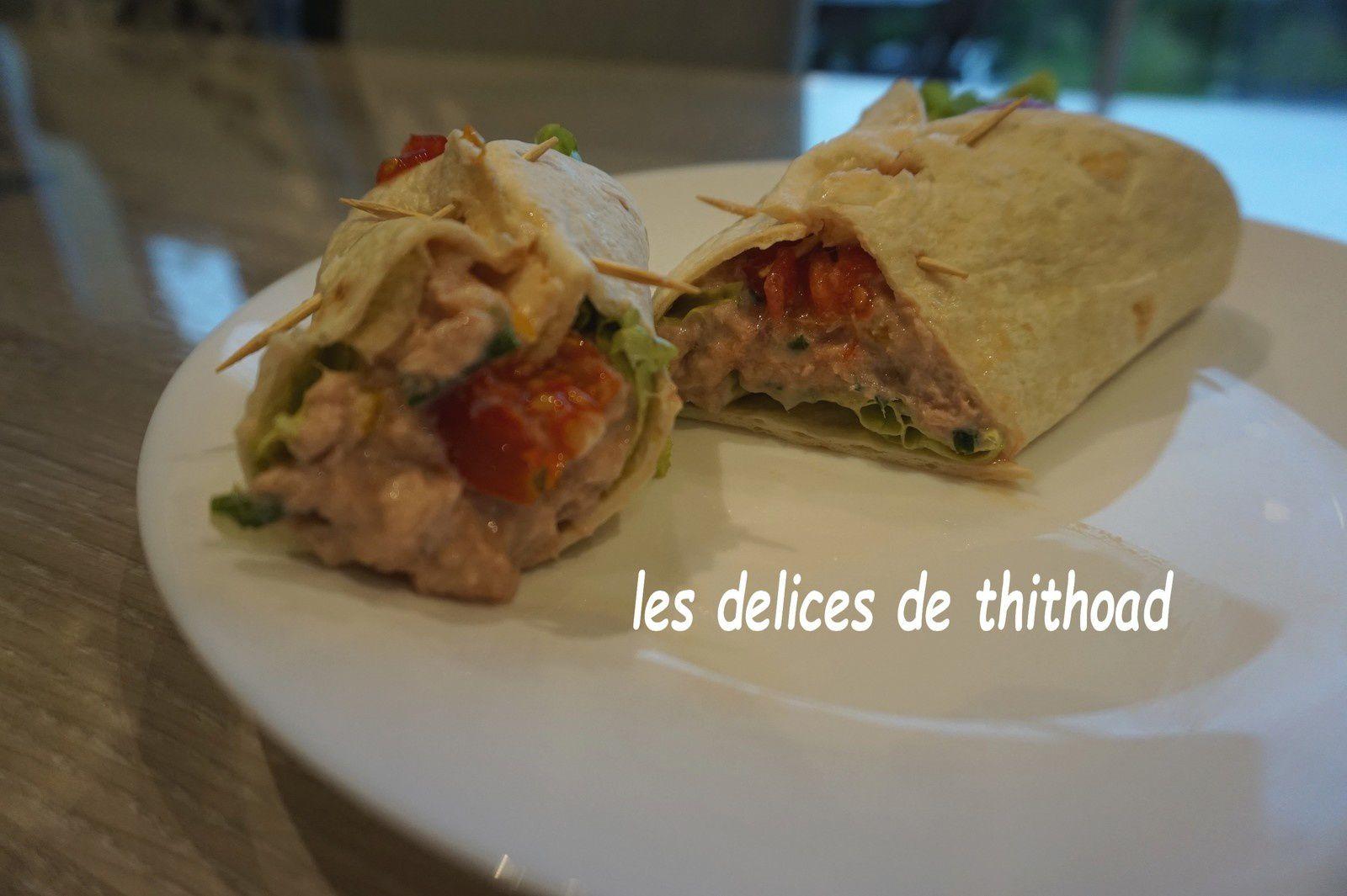 wraps au thon