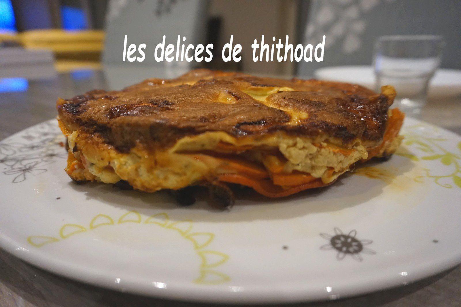 Gâteau invisible potimarron et fromage de chèvre