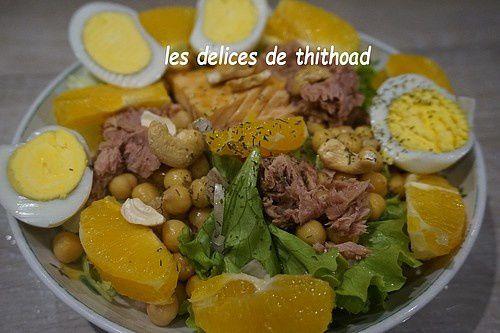 Salade de saumon à l'orange