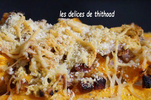 Butternut farcie aux dés de jambon