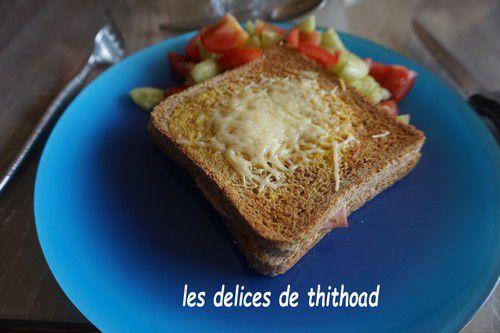 Croque monsieur au fromage de brebis