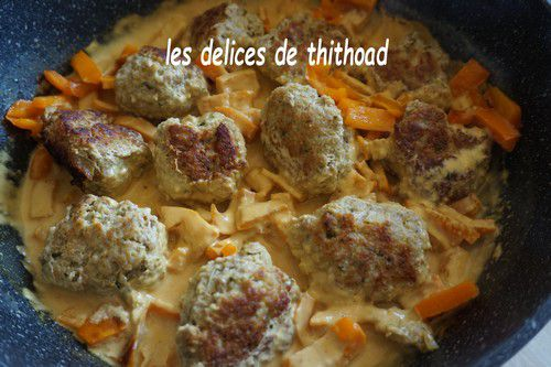Boulettes de veau au curry