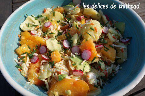 salade pommes de terre et avocats