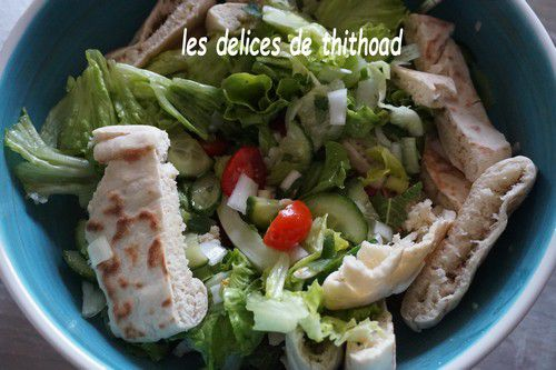 salade au pain pita