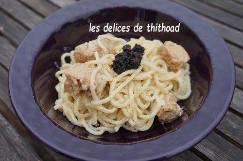 Spaguettis au foie gras et truffes (bataille food #78)