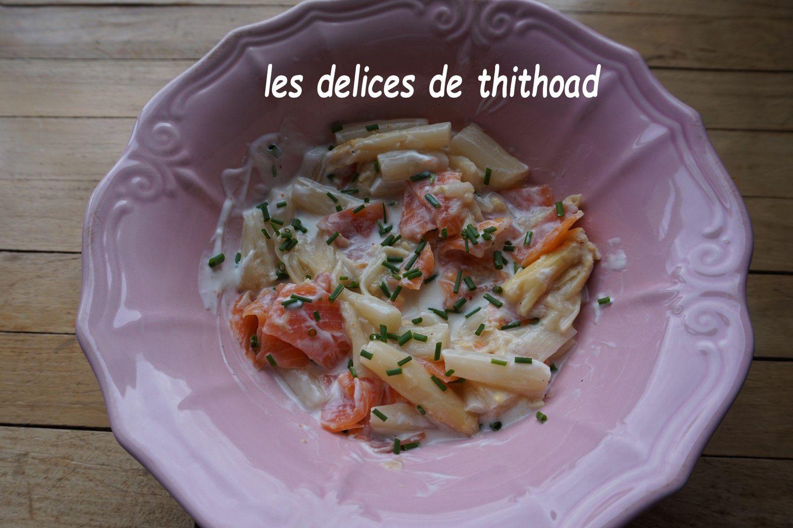 Salade d'asperges blanches au saumon fumé