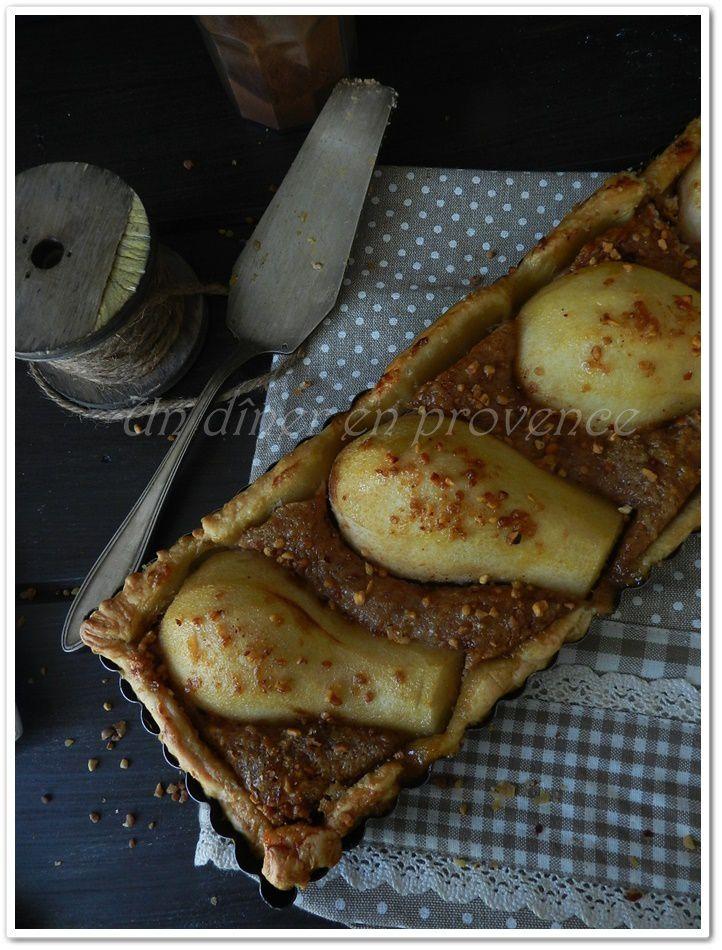 Tarte aux poires, ricotta et noix de pécan