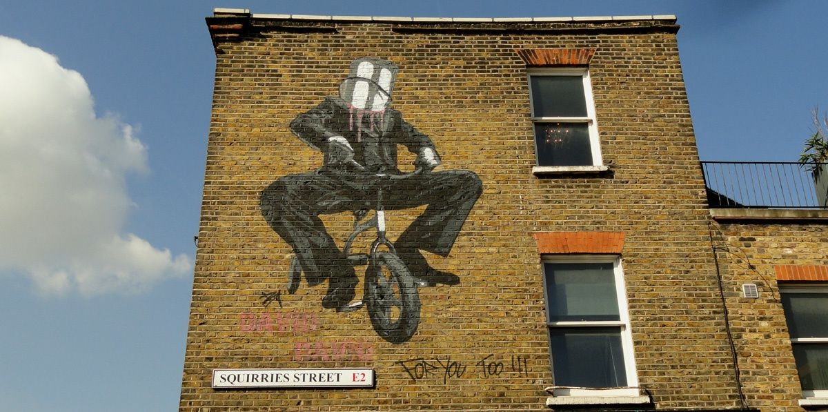 Street Art : Graffitis & Fresques Murales Bethnal Green District Tower Hamlets London