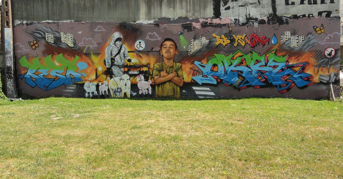 Street Art : Graffitis & Fresques Murales 29232 Quimper