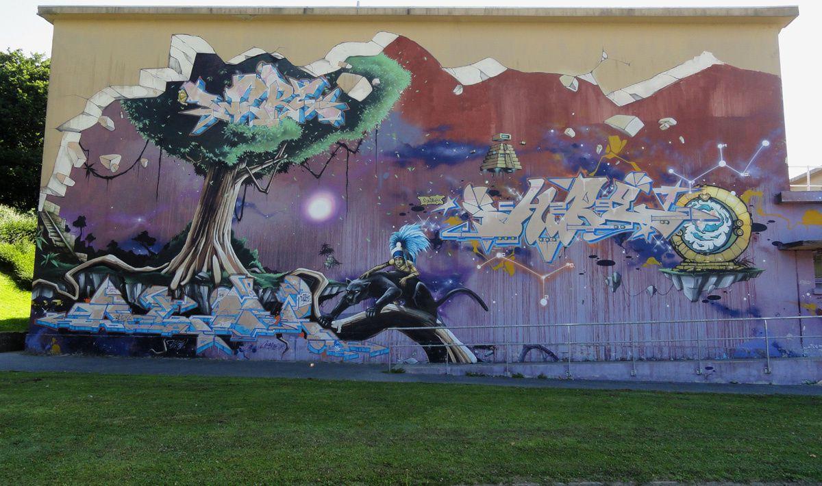 Street Art : Graffitis & Fresques Murales 29019 Brest