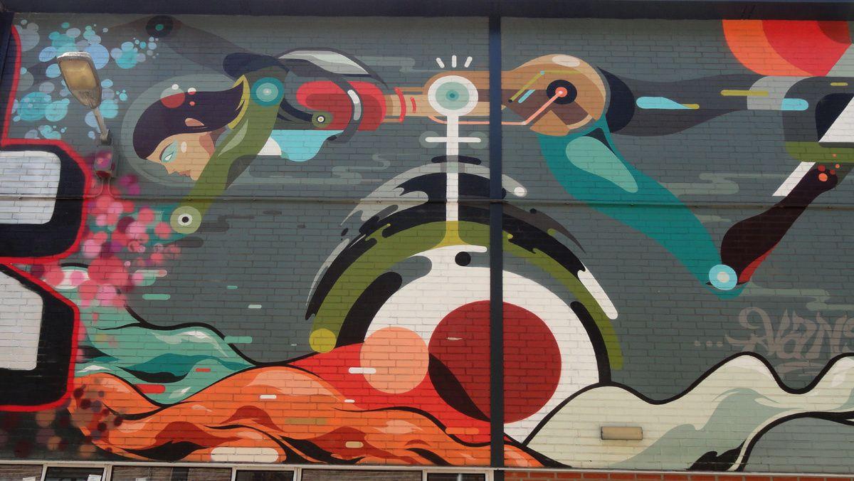 Street Art : Graffitis & Fresques Murales 5615 Eindhoven (Pays Bas)