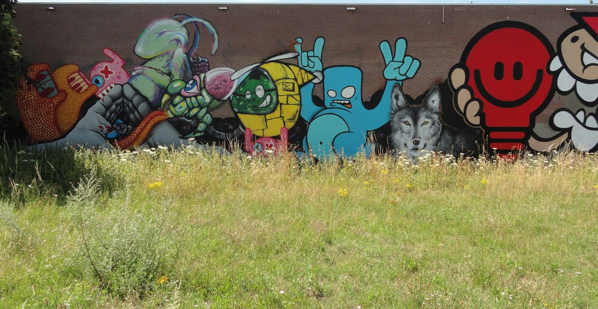 Street Art : Graffitis & Fresques Murales 5615 Eindhoven (Pays Bas)