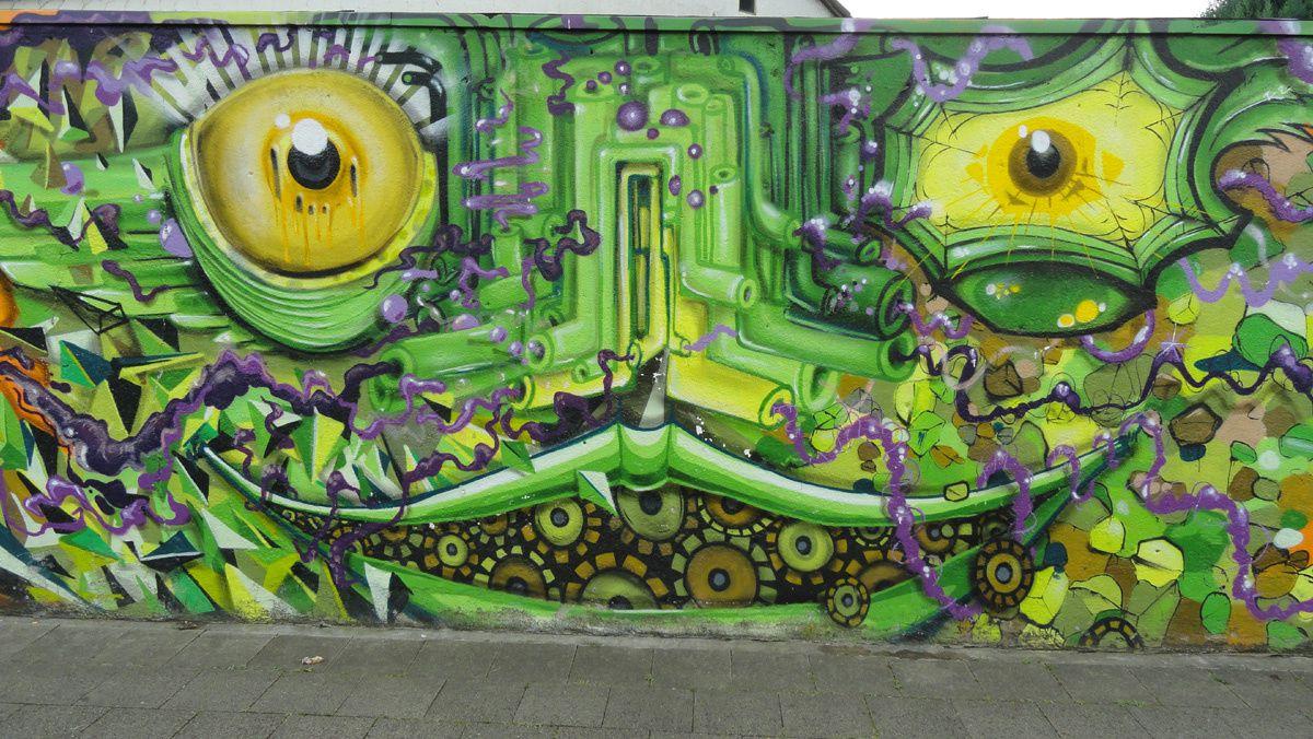 Street Art : Graffitis & Fresques Murales 40227 Dusseldorf