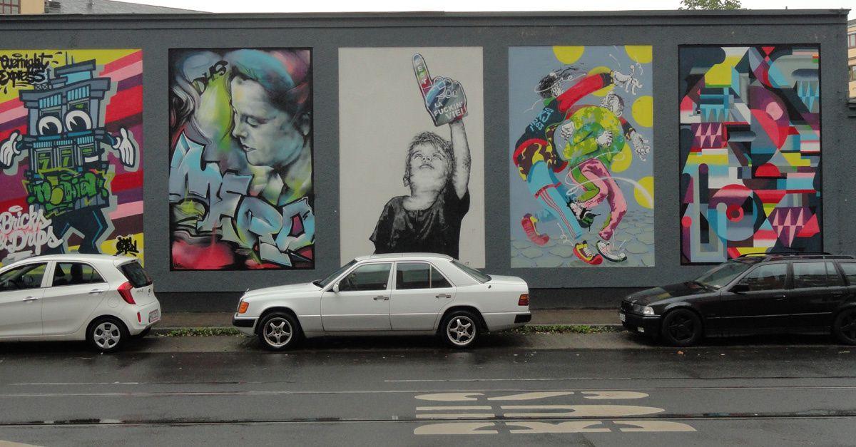 Street Art : Graffitis & Fresques Murales 40215 Dusseldorf