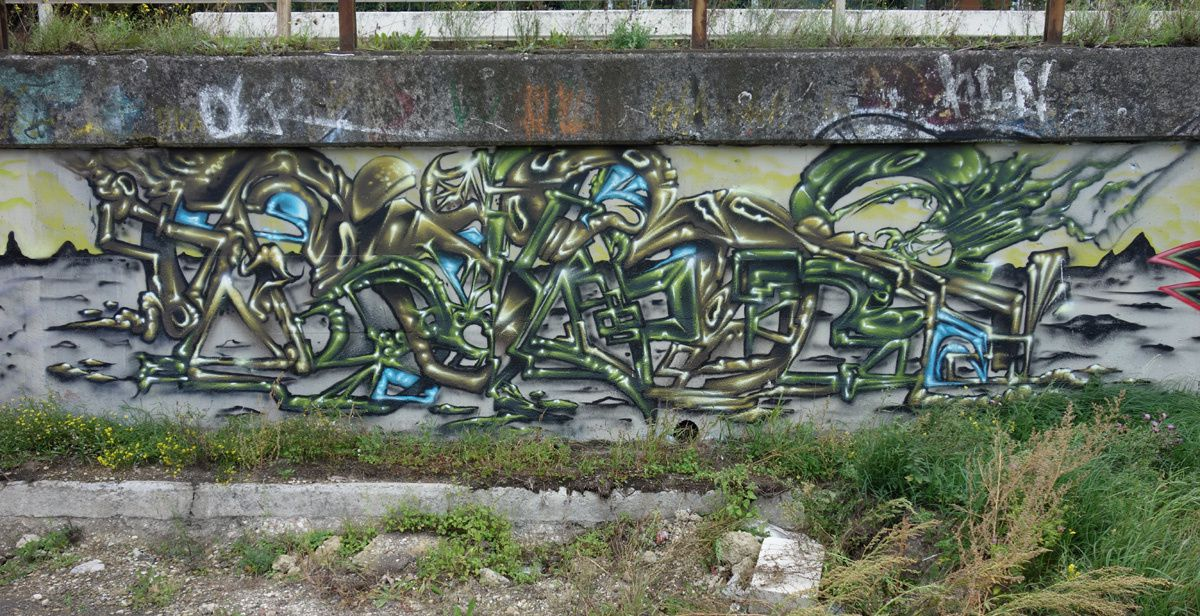 Street Art : Graffitis & Fresques Murales 7000 Mons (Belgique)
