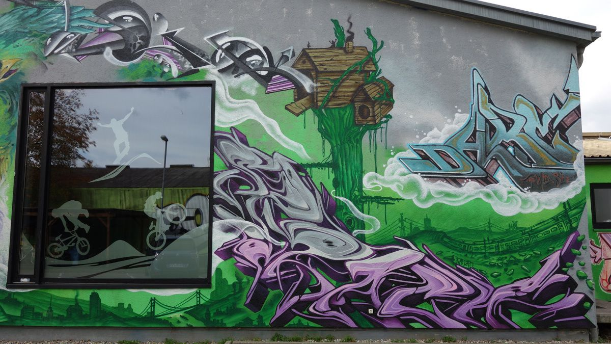 Street Art : Graffitis & Fresques Murales 76149 Karlsruhe (Germany)