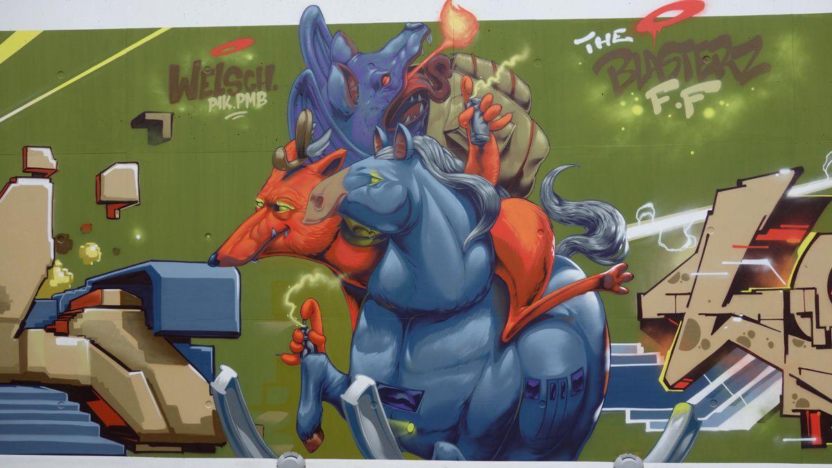 Street Art : Graffitis & Fresques murales 4744 Pétange (Luxembourg)