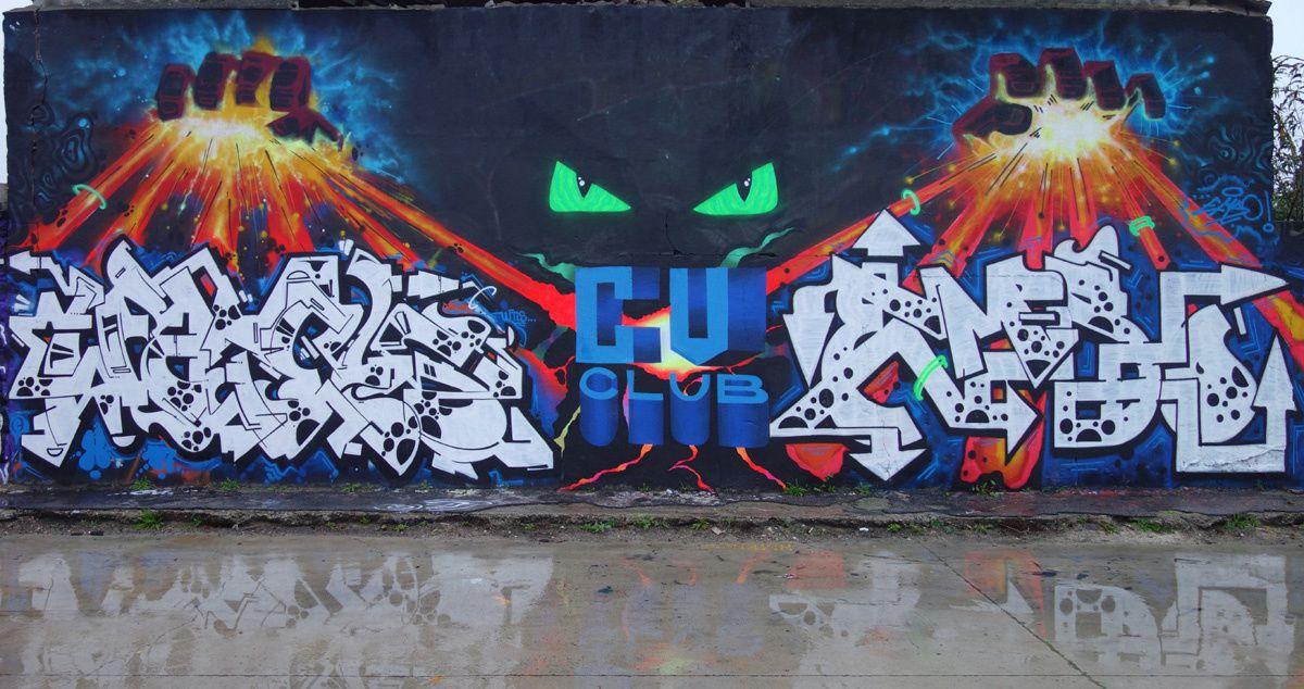 Street Art  Graffitis & Fresques Murales 93001 Aubervilliers