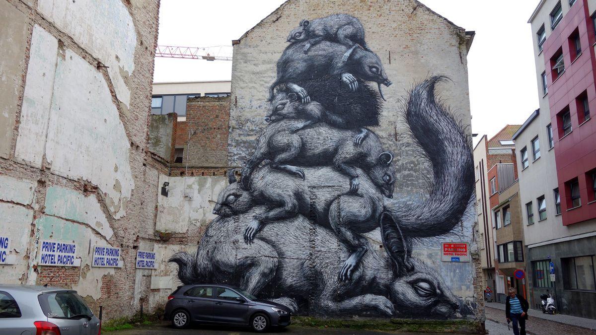 Street Art : graffitis & Fresques Murales 8400 Ostende (Belgique)