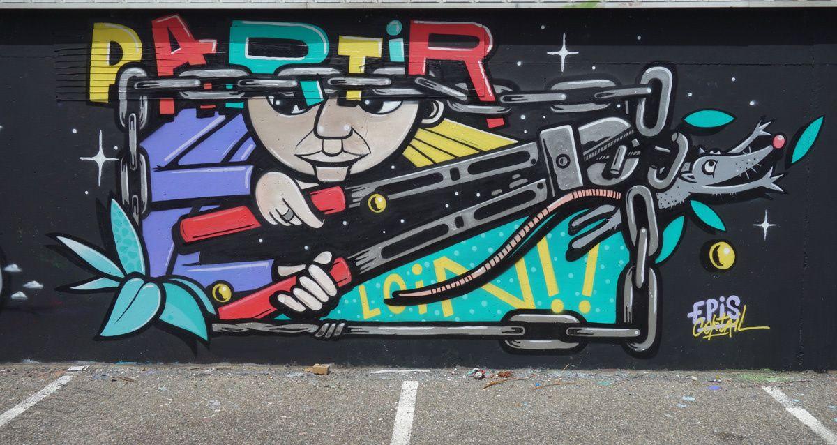 Street Art : Graffitis & Fresques Murales 33281 Merignac