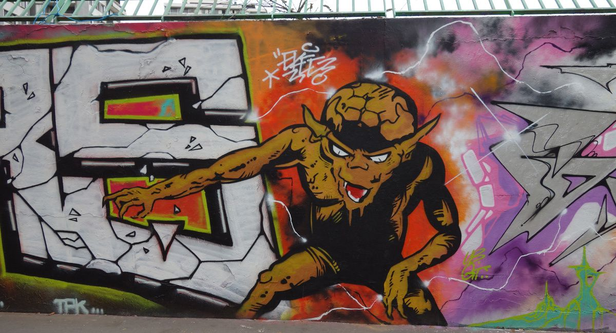 Street Art : Graffitis & Fresques Murales 75018 Paris