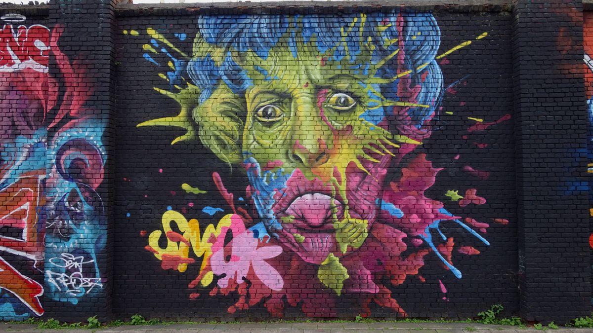 Street Art : Graffitis & Fresques Murales 2018 Anvers (Belgique)