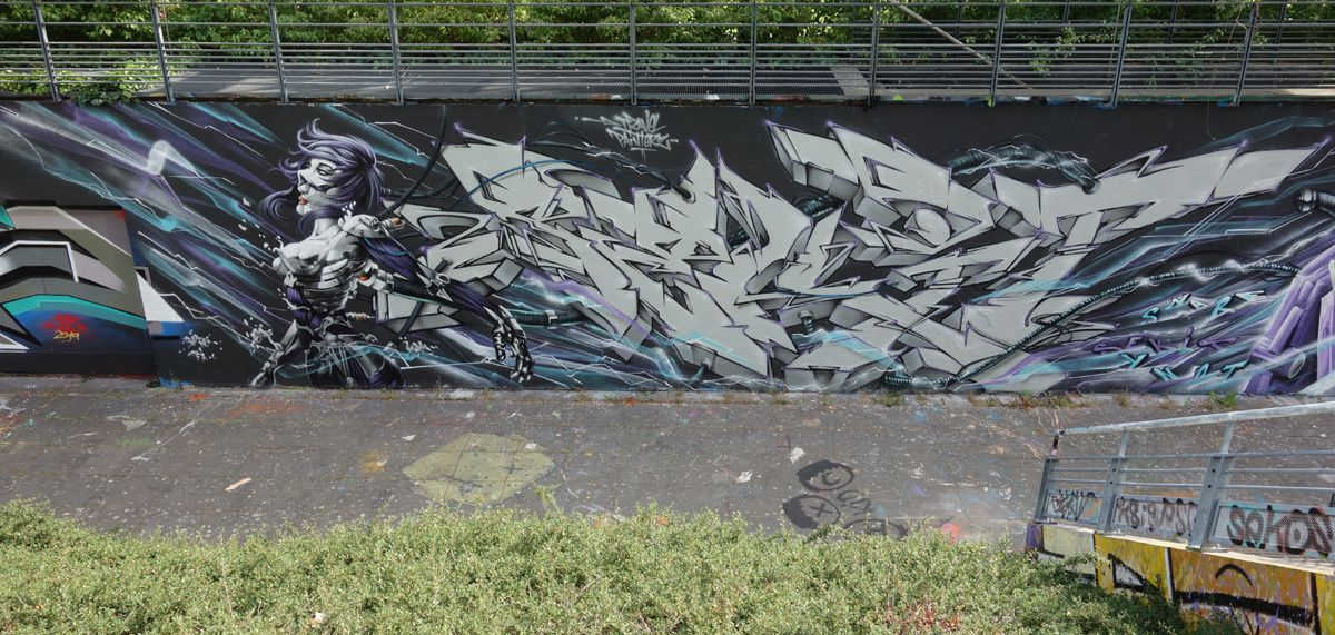 Street Art : Graffitis & Fresques Murales 49007 Angers