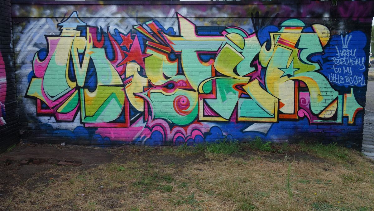 """Street Art : Graffitis & Fresques Murales """"Step in the Arena"""" 5600 Eindhoven (Pays Bas)"""
