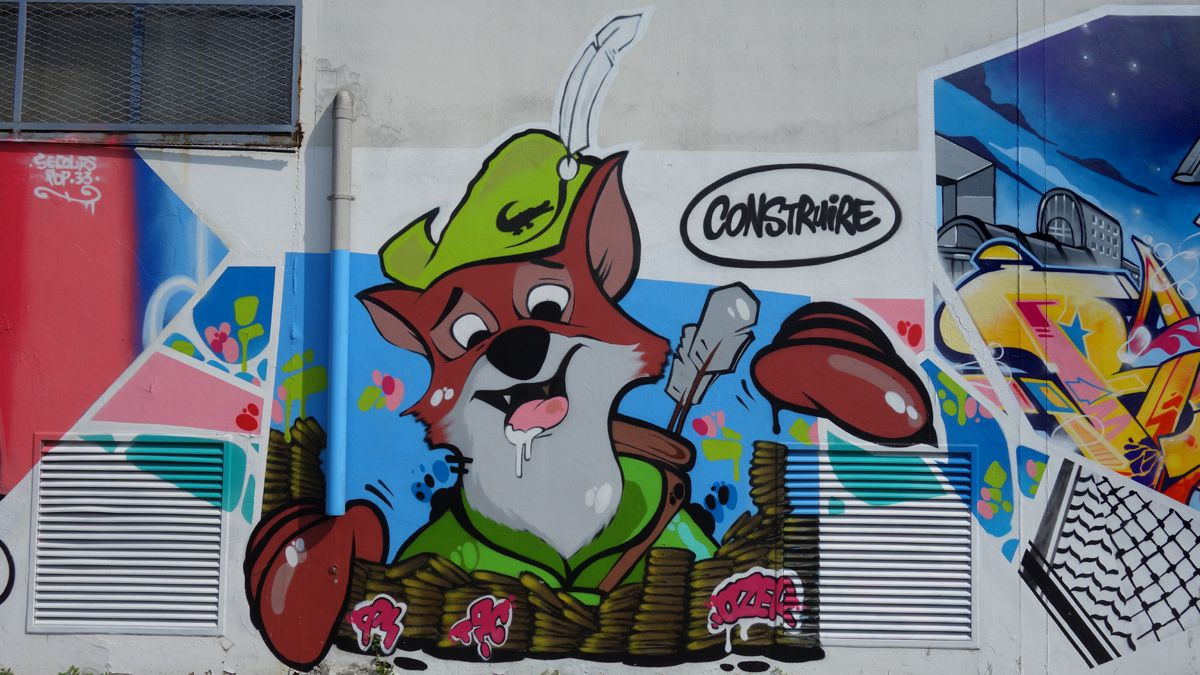 Street Art : Graffitis & Fresques Murales 33000 Bordeaux