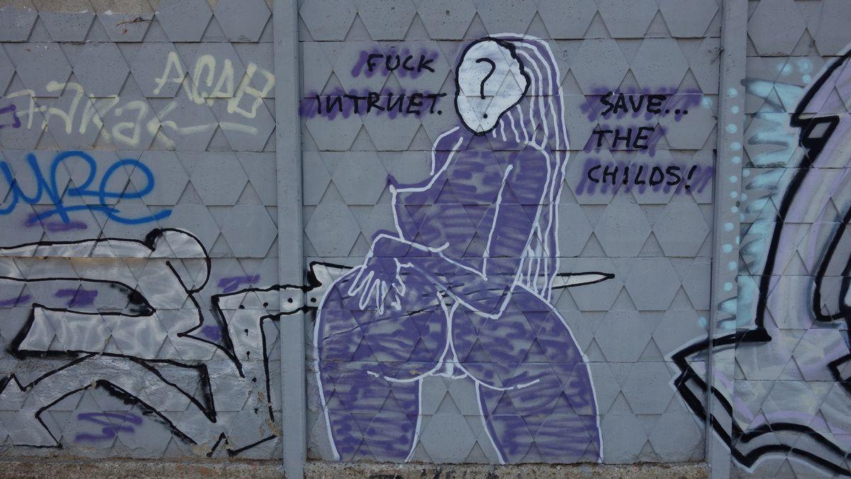 Street Art : Graffitis & Fresques Murales 08227 Terrassa (Catalunya)