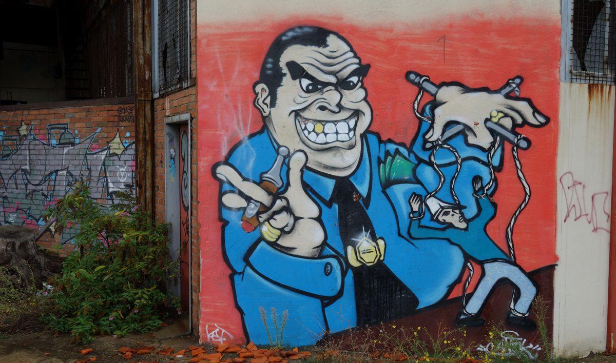 Street Art : Graffitis & Fresques Murales 42279 Saint Just Saint Rambert