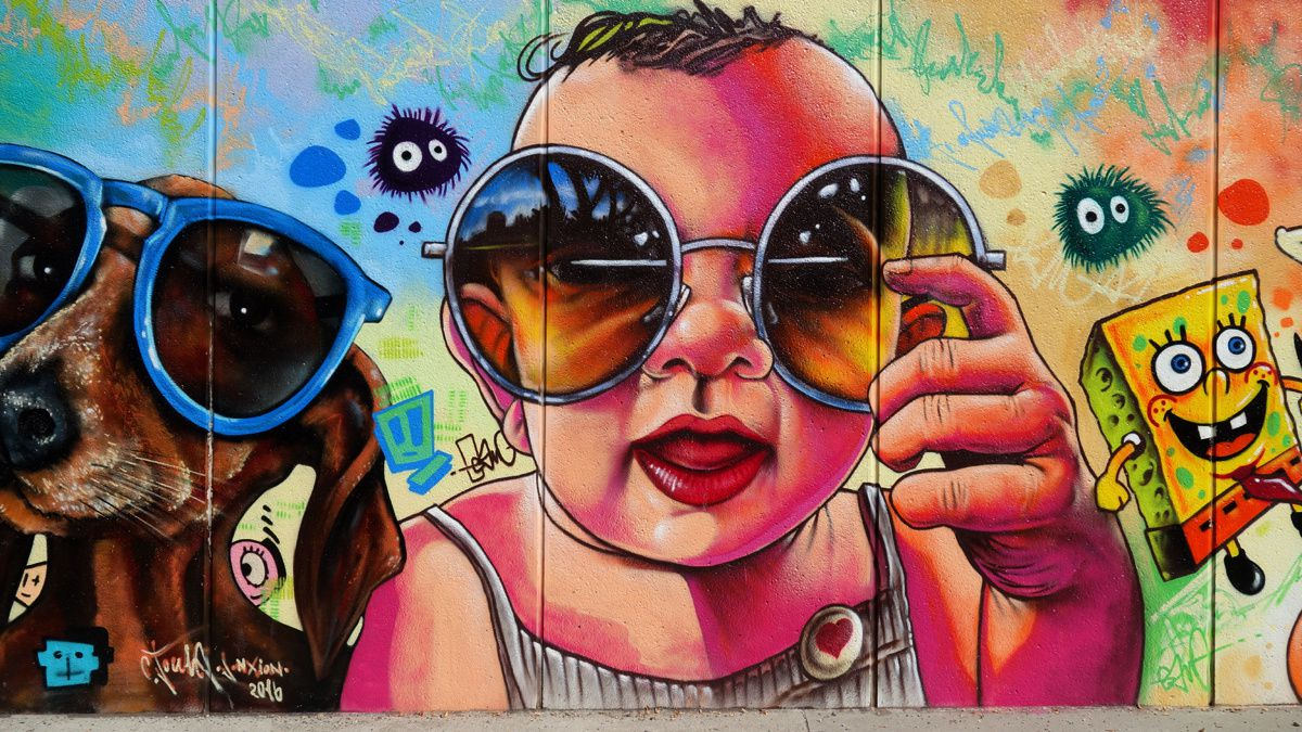 Street Art : Graffitis & Fresques Murales 1205 Geneve(Suisse)