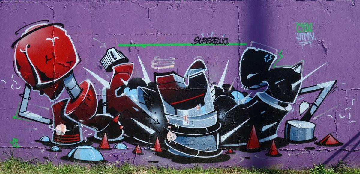 Street Art : Graffitis & Fresques Murales 6500 Bellinzona(Tessin Suisse)