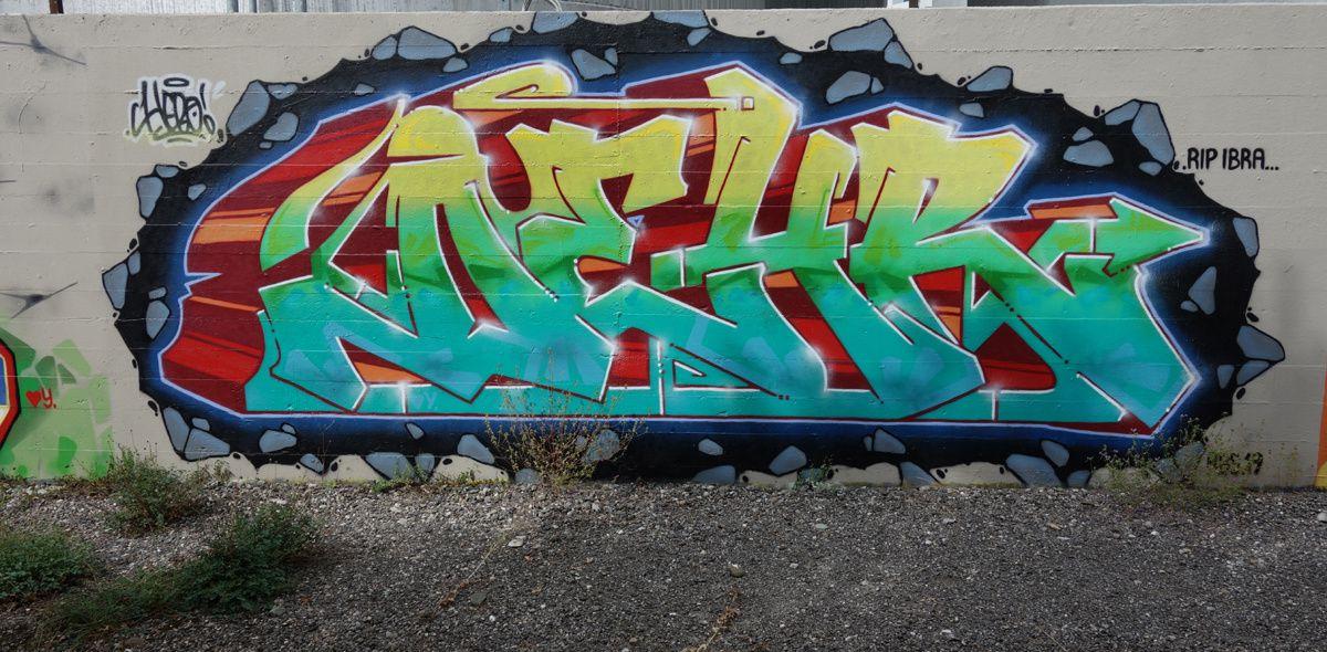 Street Art : Graffitis & Fresques Murales 1214 Vernier ( Suisse )