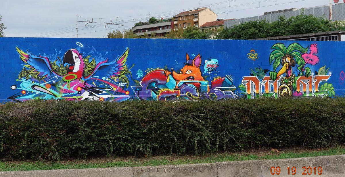 Street Art : Graffitis & Fresques Murales 20143 Milano (Italy)