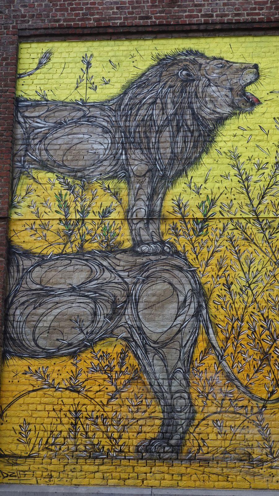 Street Art : Graffitis & Fresques Murales 1050 Bruxelles ( Belgique )