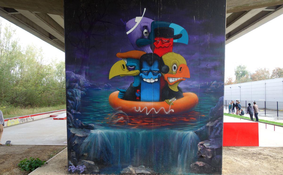 Street Art : Graffitis & Fresques Murales 8510 Kortrijk ( Belgique )