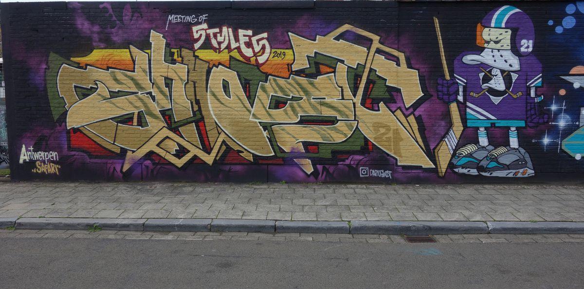 Street Art : Graffitis & Fresques Murales 2028 Antwerpen (Belgique)