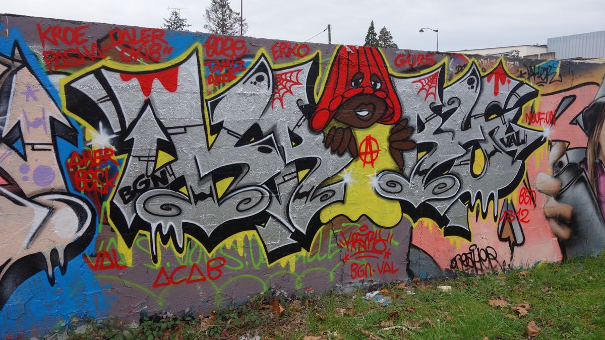 Street Art : Graffitis & Fresques Murales 91687 Viry Chatillon