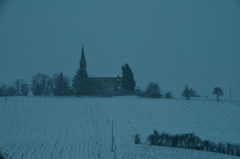 church under the snow