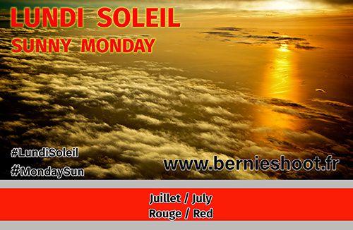 lundi soleil juillet  rouge