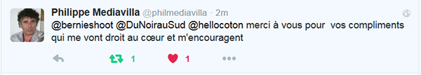 Philippe Mediavilla remerciments twitter