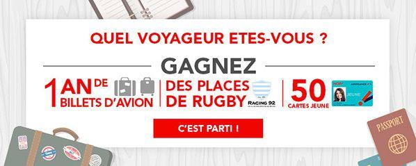 concours « Quel voyageur êtes-vous ? » HOP! Air France